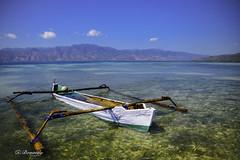 fisherman boat on Alor beach (taufik bonaedy) Tags: travel indonesia landscape alor fishermanboat eastnusatenggara nikond610
