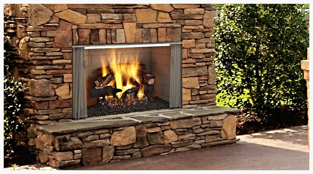"Monessen Villawood 36"" Outdoor Fireplace"