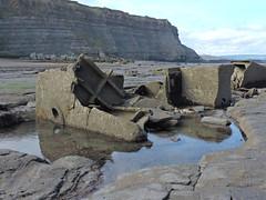 Wreck of the MV Creteblock (mike_j's) Tags: sea beach concrete boat ship cliffs shipwreck whitby tug wreck bows rockpool creteblock nikonp530 scuttlled
