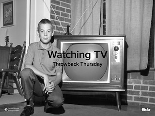 Throwback Thursday: Watching TV