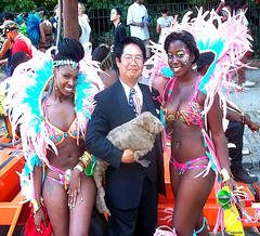 Dr. Takeshi Yamada and Seara (Coney Island sea rabbit) with the beautiful paraders at the West Indian American Day Parade (Labor Day Parade) at the Eastern Parkway in Crown Heights in Brooklyn, NY on September 7, 2015. 20150907 100_9707=1025s10pC top shar (searabbits23) Tags: ny newyork sexy celebrity art hat fashion brooklyn painting asian coneyisland japanese star costume tv google king artist dragon god cosplay manhattan famous gothic goth performance pop taxidermy cnn tuxedo bikini tophat unitednations playboy entertainer takeshi samurai genius mermaid amc johnnydepp mardigras salvadordali unicorn billclinton billgates aol vangogh curiosities sideshow jeffkoons globalwarming takashimurakami pablopicasso steampunk yamada damienhirst cryptozoology freakshow barackobama labordayparade westindianamericandayparade seara immortalized takeshiyamada museumofworldwonders roguetaxidermy searabbit ladygaga climategate