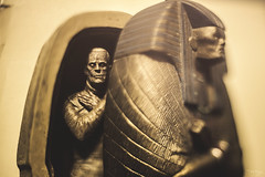Opening the Sarcophagus (3rd-Rate Photography) Tags: monster canon toy actionfigure 50mm gold nikon florida sarcophagus jacksonville universal 365 themummy boriskarloff karloff universalmonsters imhotep toyphotography freelens 5dmarkiii lenswhacking earlware 3rdratephotography
