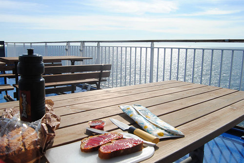 Jun 17, morning breakfast on the ferry -outdoors