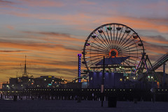 Sta Monica Pier At Sunset (MarcCooper_1950) Tags: sunset santamonica gulls santamonicapier