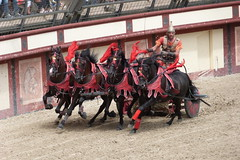 Chariot race (Slayce_photography) Tags: horses horse race cheval sand sable course arena gladiator arène chevaux gladiators puydufou chariots gladiateur charit