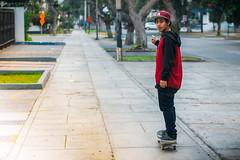 Reny. (Julio C. Medina) Tags: city portrait people film look canon rebel 50mm skateboarding lima bokeh 14 per vista 100 nikkor agfa ai filmlook filmburn 550d t2i skatephotography caox vsco skatelife vscofilm