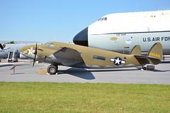 C-60A Lodestar, U. S. Army Air Force (42-55918), and C-5 Galaxy, U. S. Air Force (69-0014), Delaware, Dover Air Force Base, Air Mobility Command Museum (EC Leatherberry) Tags: military delaware lockheed lodestar kentcounty cargoaircraft doverairforcebase c5galaxy usarmyairforce transportaircraft lockheedaircraft airmobilitycommandmuseum c60a c60alodestar