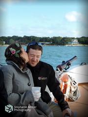 DSCN5483 (stephanieamberphotography) Tags: ocean wedding sea flower water groom bride coast boat kiss kissing day sailing ship shore sail crown