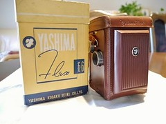 "Newest addition to the ""collection""... (www.yashicasailorboy.com) Tags: camera original tlr film leather japan box case 66 collection 1950s rare yashica yashima 6x6cm yashimaflex"