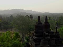 Buddha's View (terri-t) Tags: history nature forest indonesia landscape temple java ancient buddha buddhism unesco worldheritagesite yogyakarta borobudur magelang 9thcentury mahayana explored