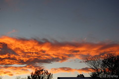 November 21, 2015 - An amazing fall sunset in Thornton. (LE Worley)