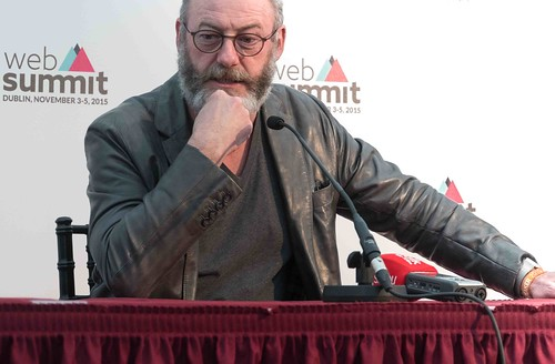 WEB SUMMIT 2015 - LIAM CUNNINGHAM MEETS THE PRESS [ACTOR]-109589