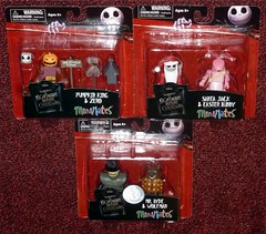 MiniMates - Nightmare Before Christmas Wave 2 (Darth Ray) Tags: santa christmas 2 bunny art easter pumpkin jack tim king mr before disney hyde series nightmare asylum zero exclusive wolfman burtons the minimates