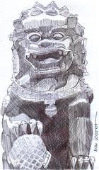 perro fu a lapicero (ivanutrera) Tags: dog animal sketch drawing perro draw dibujo lapicero boligrafo dibujoalapicero dibujoenboligrafo