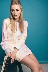 (mrksaari) Tags: fashion magazine studio model chair pastel retro vogue d750 silkki 2470mmf28g
