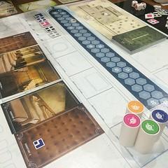 T.I.M.E. Stories - บอร์ดเกมที่ใกล้เคียงกับเกมผจญภัยในคอมมากที่สุด ผู้เล่น 1-4 คนช่วยกันทำ mission ของตำรวจเวลาจากโลกอนาคต ตามหา temporal fault หรือจุดบกพร่องในเส้นเวลาให้เจอ วันนี้เล่น mission แรกเป็นครั้งที่สอง คิดว่าแก้ปริศนาในเรื่องไปราวครึ่งหนึ่งแล้ว