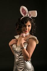 Bunny hopeful?? (ali_alchemic light) Tags: lighting red cute bunny smile fashion pose studio costume ears passion statement seduction fashionpassion captivating bestshots gotthelook supersix heartawards brozeaward