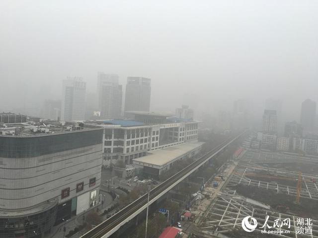 武汉发布雾霾黄色预警 工地停工学校停课(图)