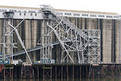 Grainery Works 2 of 3 (Orbmiser) Tags: 70300vr d90 nikon oregon portland winter willametteriver grainery metal structure