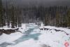 Follow the stream (Kasia Sokulska (KasiaBasic)) Tags: fujix canada alberta jaspernp winter rockies mountains stream frozen ice forest landscape