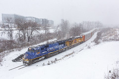 Snaking onto the Docks (sully7302) Tags: union pacific csx olympic torch relay unit up sd70m 2001 es44ac new jersey national docks river subdivision ridgefield park city teaneck