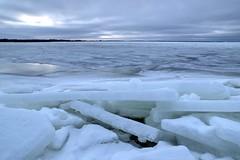 Pure clean ice (Mika Lehtinen) Tags: pure ice clearice bluesky clouds sea shore beach winter cold snow finland nikon d600