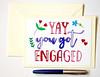 Yay you got engaged handmade greeting card-2 (roisin.grace) Tags: greetingcards greetingcard handpainted handmade handmadecards handpaintedcards etsy etsyseller etsyshop etsyhandmade etsyfinds lovecards valentinesday valentines valentinescard engagementcards engagementcard