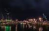 The Docks at Night (Jims_photos) Tags: water texas topazlabssoftware topazlabs topazsoftware texascoast yacht outdoor outside ocean adobelightroom adobephotoshop slidersunday sailboats docks fishingboat gulfofmexico jimallen lightroom cloudy clouds coastalscene corpuschristitexas boats nopeople nikon7100 nightphotos nightshot nightimages