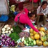 Market in Luang Prabang town of Laos 老撾琅勃拉邦菜市 (yonsinchin) Tags: marketplace laos vegetables hawkers selling colourful