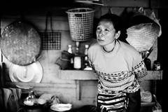 . (DEARTH !) Tags: mekong laos southeastasia portrait woman blackandwhite lao dearth lifeonthemekong slowboat mekongriver travel sainyabuliprovince la