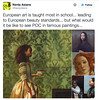 """[source for these tweets] [my reply] More than anything, I want people to know that THESE PAINTINGS EXIST. Also, these two were painted in England and Ireland centuries ago; they're not modern """"re-imagined"""" paintings. [Robert Home; Portrait of a Malay Wom (medievalpoc) Tags: medievalpoc art history contemporary historical twitter its important which is why dont care if u like me steal this info repost it just want ppl know hell copypaste whole blog idgaf"""