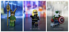 [Marvel] Grounded (| Jonathan |) Tags: lego marvel comics superheroes custom figbarf purist ms carol danvers loki classic frost giants maestro hulk