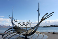 reykjavik viking boat (kexi) Tags: reykjavik iceland europe sculpture viking boat view metal blue sky canon may 2016 instantfave