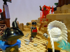 DSCN3822 (Mightyslickpancake) Tags: lego team fortress 2 heavy medic demoman soldier scout pyro spy engineer sniper ctf tf2 capture flag red vs blue hats