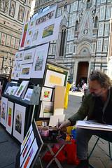 Pittori a Firenze (carlogalletti) Tags: firenze italy italia pittori strada colori disegni quadri artisti duomo giostra piazza repubblica ballerini dancers street