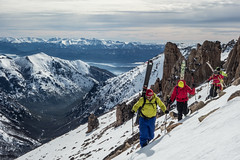 catedral ridge searching for good snow/all photos Chris Rubens copyright