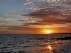 February by the sea (sunset1uk) Tags: southwick southwickbeach englishchannel england englanduk sunset sea beach groyne water cloudscapes clouds bluesky