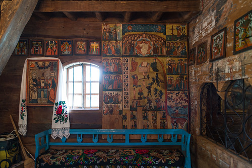 Interior of Painted Wooden Church
