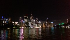 IMAG1060 on the ferry (Explored 20th Feb 2017) (drayy) Tags: brisbane qld queensland city river ferry rivercat evening night view views scenery skyline explore explored