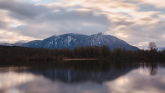 Let's Wait For Something To Happen (John Westrock) Tags: mountain nature landscape longexposure morning clouds cloudy reflection mtsi northbend washington canoneos5dmarkiii pacificnorthwest sigma35mmf14dghsmart