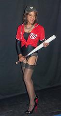 Kacey On Deck! (kaceycd) Tags: stockings pumps highheels baseball s tgirl bodysuit stilettoheels pantyhose crossdress spandex lycra tg leotard stilettos nylons garterbelt garters suspenderbelt ffstockings sexypumps stilettopumps rhtstockings