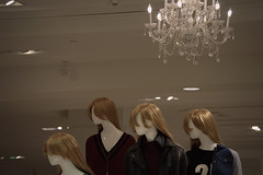 """""""now look to the right..."""" (Justin van Damme) Tags: brown white mall way one uniform mannequins looking 21 chandelier blond forever caucasian"""