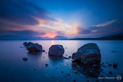 Loch Lomond with 3 rocks.jpg (MarcNewton1) Tags: longexposure sunset seascape reflection water landscape lochlomond landscapephotography marcnewton