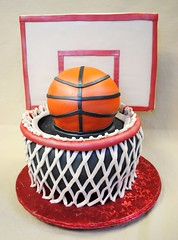 Sculpted Basketball & Hoop (Swedish Bakery Chicago) Tags: cakes sports basketball cake basketballhoop swedishbakery sculptedcake