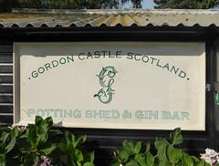 Gordon Castle Gin: Potting Shed and Gin Bar (jane_sanders) Tags: sign sussex scotland westsussex gin goodwood pottingshed revival goodwoodrevival motorcircuit gordoncastle ginbar