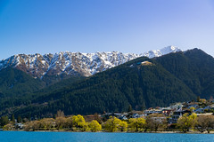 Queenstown from Frankton Arm (fate atc) Tags: blue trees houses mountains landscape nz promenade southisland centralotago queenstown picturesque benlomond foreshore lakewakatipu chocolatebox sonya99 lakesidesuburb