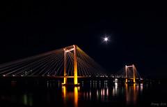 "Ed Hendler ""Cable"" Bridge (Manny Avila) Tags: city bridge reflection river ed washington long exposure cityscape cable columbia architectural wa kennewick pasco tricities hendler"