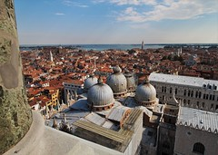 Venice - From the Campanile (phil_king) Tags: venice italy building tower skyline architecture high san italia cityscape view basilica palace campanile marco palazzo venezia ducale doges