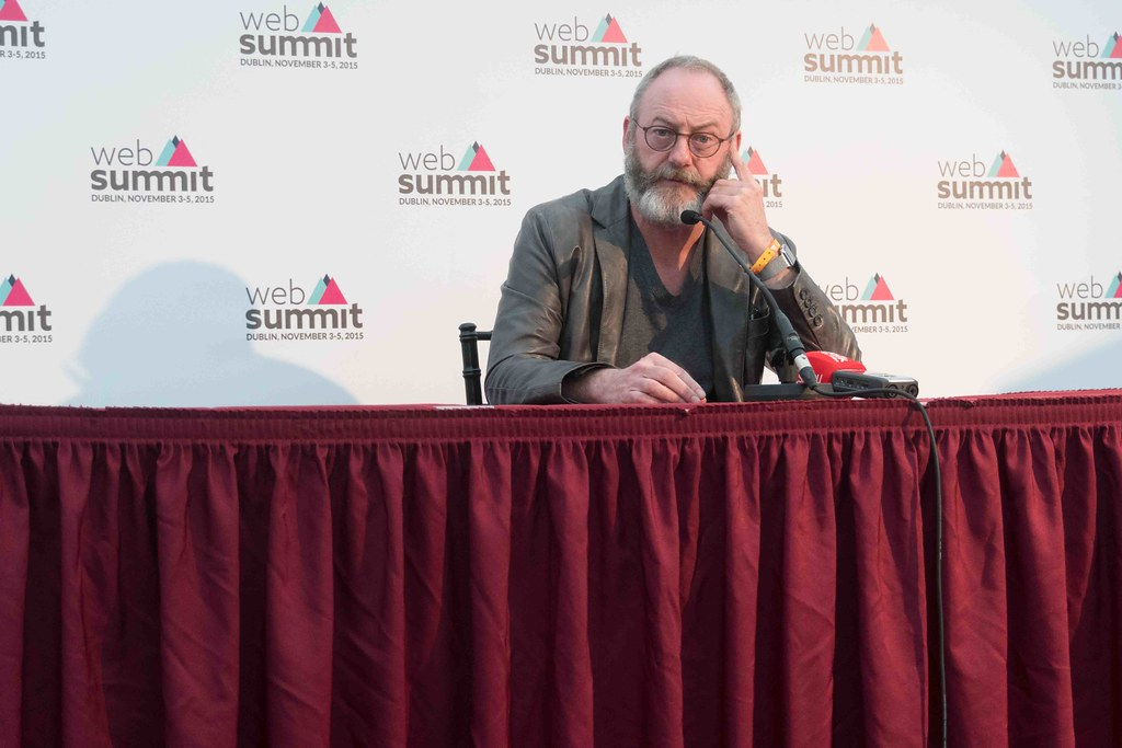 WEB SUMMIT 2015 - LIAM CUNNINGHAM MEETS THE PRESS [ACTOR]-109591