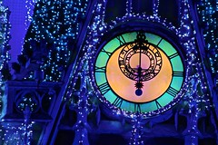 When the Clock Strikes Midnight (jordanhall81) Tags: christmas castle clock lights bokeh magic spell sparkle midnight strike cinderella 12 twelve